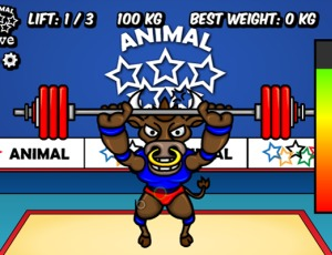 Animal Olympics Weight Lifting
