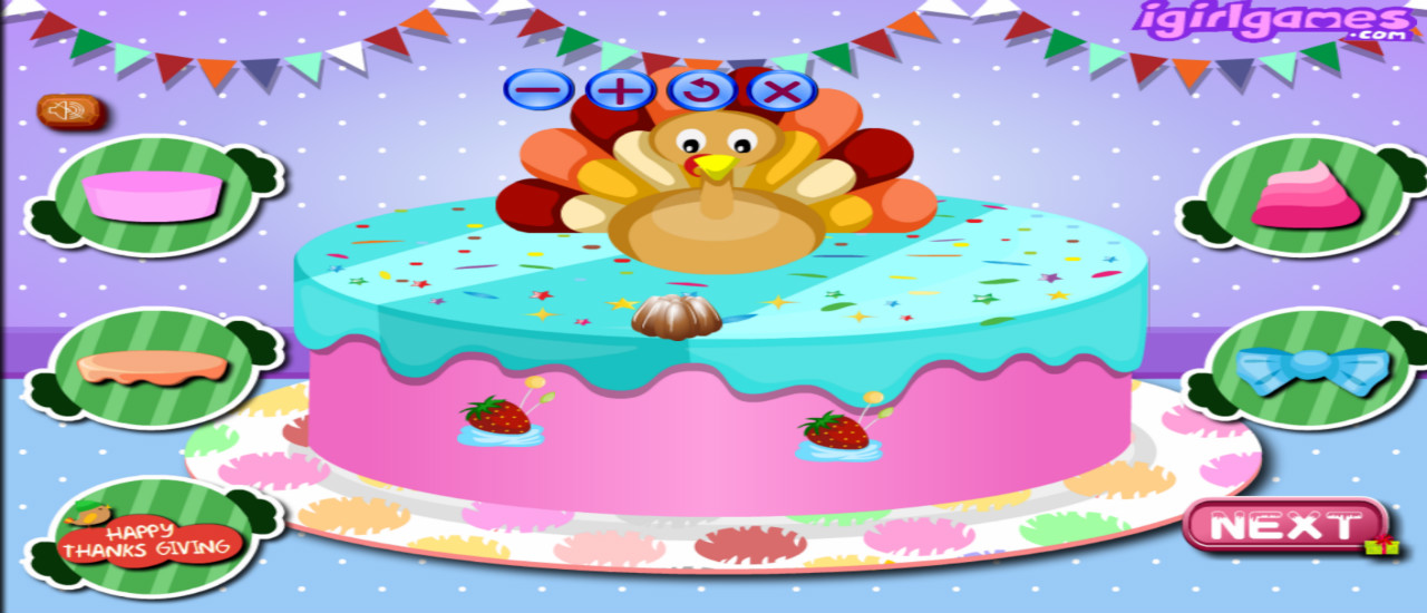 Happy Thanksgiving Cake Master